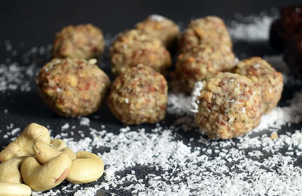 Energy balls protéinées et peu sucrées (pâte de cacahuète)