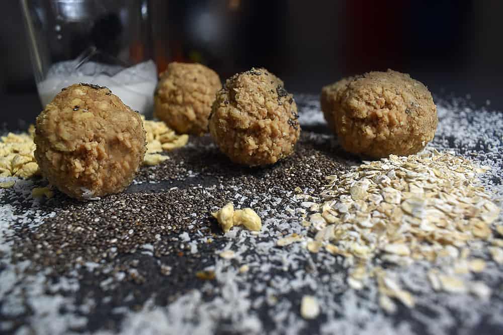 Energy balls protéinées et peu sucrées (lait de coco)