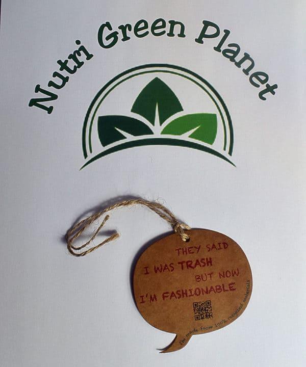 Etiquette Textile recyclé Nutri Green Planet 3