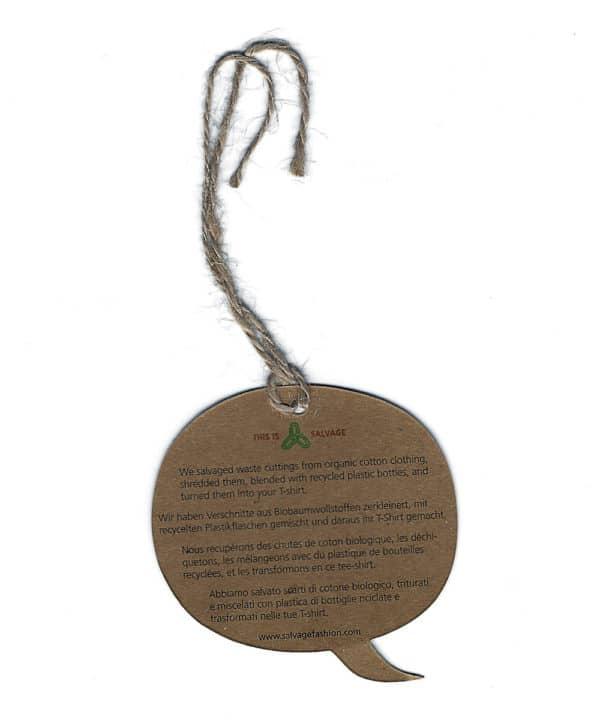 Etiquette Textile recyclé Nutri Green Planet 4