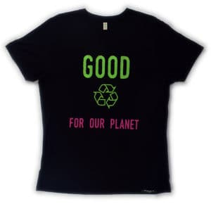 T-shirt 100% recyclé unisexe black Good For Our Planet