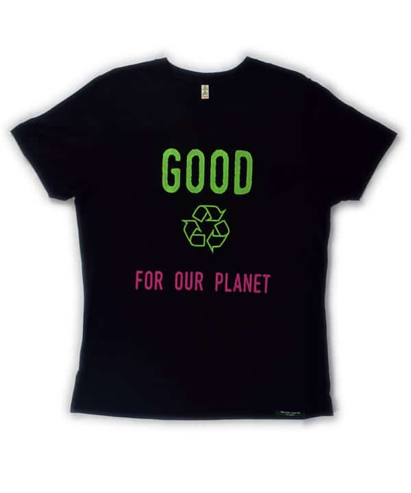 T-shirt 100% recyclé unisexe black Good For Our Planet