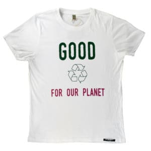 T-shirt 100% recyclé unisexe blanc Good For Our Planet 2