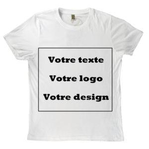 T-shirt 100% recyclé unisexe blanc personnalisé 1