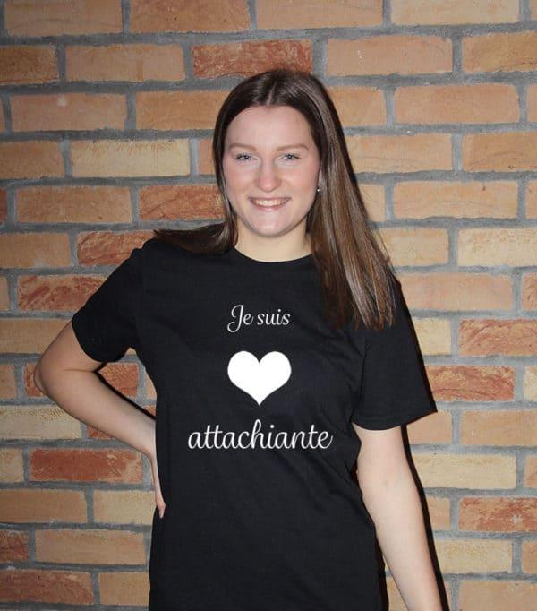 T-shirt personnalisé 100% recyclé unisexe noir attachiante