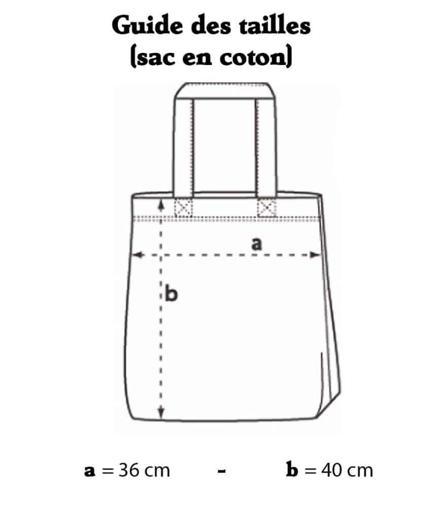 Guides tailles (sac en coton)