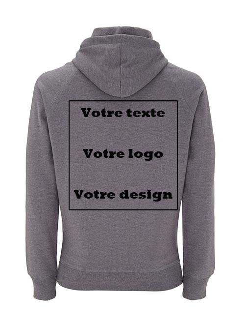Sweatshirt 100% recyclé unisexe personnalisé dos